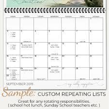 Add Custom Repeating Lists To Birthday Calendar