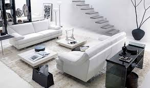 modern white living room furniture contemporary glass awesome coaster futon sofa with removable arm rest high gloss wood coffee table black credenza shelves