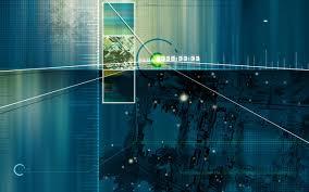 025 Blue Future Tech Ppt Design Backgrounds Powerpoint