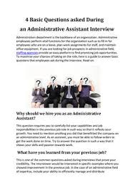 Interview Questions And Answers For Office Assistant Interview Questions For Office Assistant Atlas