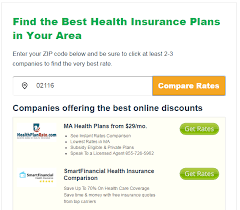 the coverage you can receive depends on where you live that is why you will often see sites dealing in health insurance asking users to input their zip