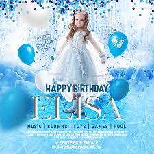 Frozen Birthday Invitations Free 16 Frozen Birthday Invitation Designs Examples In