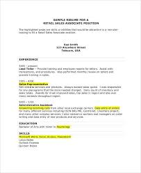 Sales Associate Sample Resume Zromtk Classy Sales Associate Skills Resume