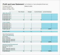 P L Statement Form Worksheet On Profit And Loss Simple Profit And