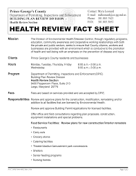 HEALTH REVIEW FACT SHEET