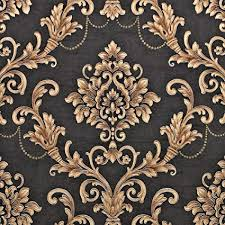 victorian wallpaper. Wonderful Victorian Nice Houzz Gold Black Damask Embossed Wallpapers Victorian Thicken  Nonwoven Wall Paper For Living Throughout Wallpaper O