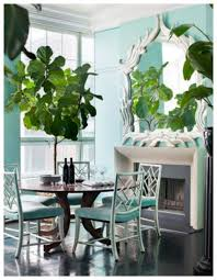 Dining Room With Mirror And Tall House Plants Decorate Your - House and home dining rooms