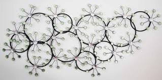 wall art ideas design white wallpaper black metal wall art simple round circle steel contemporary diamond crystal decorations awesome black metal wall art