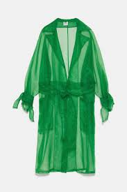 <b>Organza</b> trench coat in <b>2019</b> | Fashion, Fashion editor, Green coat