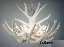 antler chandeliers pure white whitetail 9 cast cascade rustic lighting