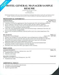 Sample Hotel Manager Resume Resume For Hotel Jobs Manager Cv Template Job Description Example