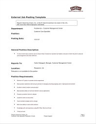 Famous Job Post Template Contemporary Example Resume Ideas