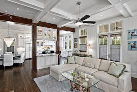 painted ceiling fans family room traditional with recessed lighting window treatmen