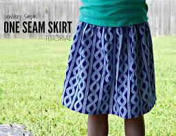 Simple Skirt Pattern Best SewVery SewVery Simple One Seam Skirt Tutorial