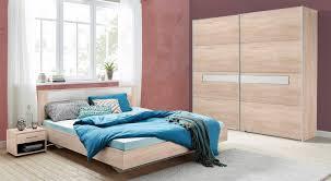 Schlafzimmer Petra Komplett 4 Teilig Struktureiche Hell Weißglas