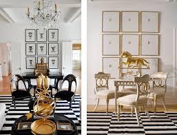 gold white balck living room striped