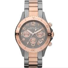 marc jacobs rock mbm3157 grey mens black ion two toned watch marc by marc jacobs mbm3157 men s grey dial two tone chronograph watch