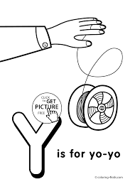 Small Picture Letter Y coloring pages of alphabet Y letter words for kids