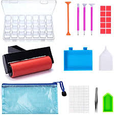 22 Pieces 5D <b>Diamonds Painting Tools</b> and Accessories Kits with ...