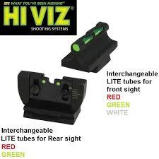 details about new hiviz hi viz ruger 10 22 sight set front rear fiber optic litewave rg1022