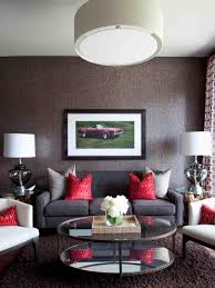 Red And Grey Decorating High End Bachelor Pad Decorating On A Budget Hgtv