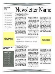 Newsletter In Word One Page Newsletter Templates Rome Fontanacountryinn Com