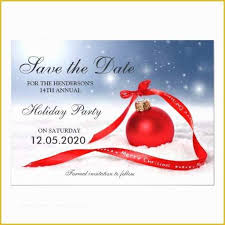 Christmas Party Save The Date Templates Holiday Save The Date Free Templates Of Festive Holiday