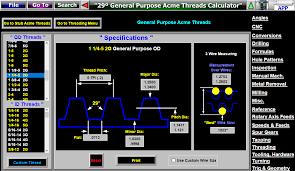Cnc Threading Dimensiones Measuring Software Rosca Calibre