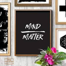 white office decors. mind matter black and white office decor cubicle college wall hanging motivational poster decors