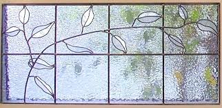 textured stained glass clear windows vine cabinet window sheets