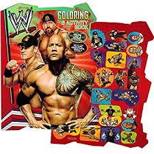 Small Picture Amazoncom WWE Coloring Book Set with Stickers and Posters 2