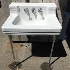 american standard art deco wall mount sink w legs sold