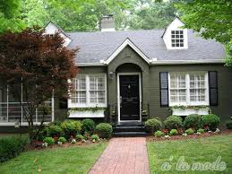 House With Black Trim Red Brick And Forest Green Trim To Army Green Brick To Black Trim