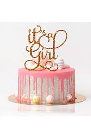 Amazoncom Its A Girl Cake Topper Baby Shower Cake Topper Rose