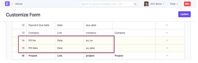 Importing Customers Po Po Date From Sales Order Selling