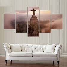 home decor living room wall art painting modular pictures 5 panel jesus spain beautiful places hd on beautiful wall art for living room with home decor living room wall art painting modular pictures 5 panel