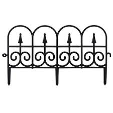 garden fence lowes. Beautiful Lowes Black Garden Fencing Actual 054in X 132in For Fence Lowes P