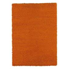 contemporary solid orange 5 ft x 7 ft area rug