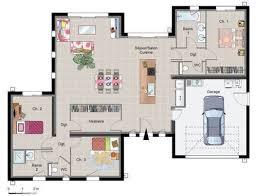 plan de maison plain pied moderne