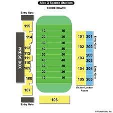 Alex G Spanos Stadium Seating Chart Cal Poly Football Stadium Seating Chart Elcho Table