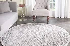 home design minimalist 8 round rug of com safavieh adirondack collection adr103b silver and