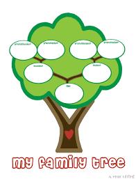Preschool Family Tree Template Family Tree Template Preschool