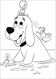 Small Picture Animations A 2 Z Coloring pages of Clifford the big red dog