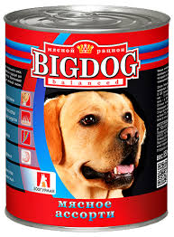 "<b>Мясное ассорти</b> 850 гр ж/б ""BIG DOG"" Консервы для собак ..."