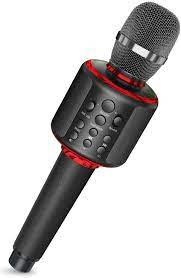 Amazon.com: Karaoke Microphone Bluetooth Wireless Portable Handheld Karaoke  Mic Speaker Machine with Duet Vocal Remover Function Home Party for All  Smartphone(Black): Musical Instruments