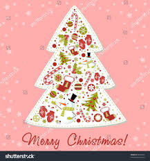 Christmas Tree With Red Ornaments And Candy Canes Clipart PictureChristmas Tree With Candy Canes