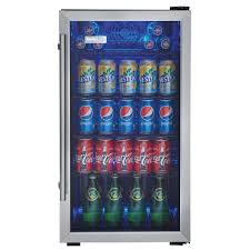 danby designer 3 3 cu ft 18 in 120 can beverage center dbc93bd the home depot