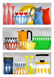scandinavian style wall art kitchen decor my cathrineholm collection on a shelf art for