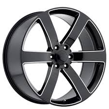 Trailblazer Bolt Pattern Classy 48 TBSS 48 Tahoe Suburban Trailblazer SS Wheels Black Milled