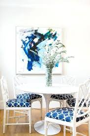 blue and white chair pads white and blue dining room with white faux blue and white